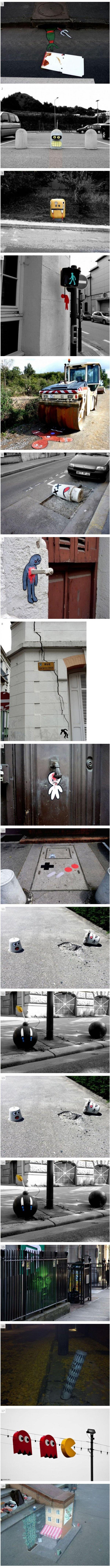 Kreative Straßenkunst