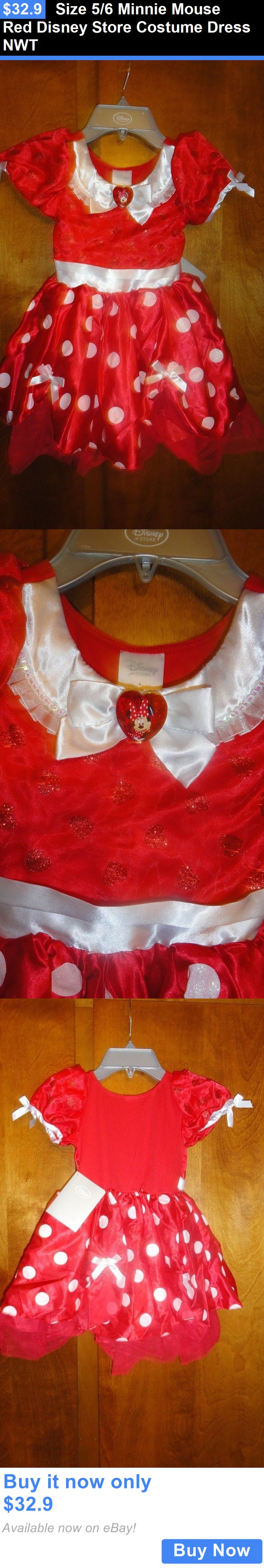 Kids Costumes: Size 5/6 Minnie Mouse Red Disney Store Costume Dress Nwt BUY IT NOW ONLY: $32.9