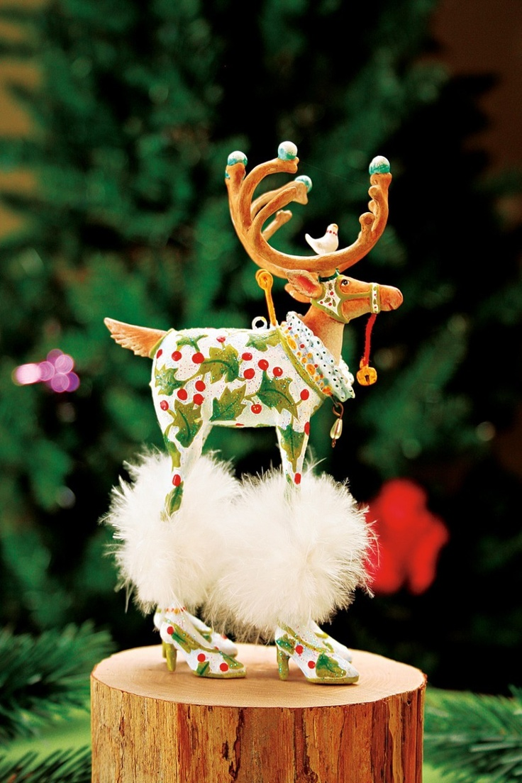 Krinklesonline By Patience Brewster  Krinkles Dash Away Vixen Christmas  Tree Ornament