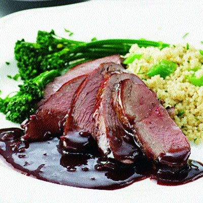 Pomegranate Duck. Want to try this with cherries like we had at The Faithful Pilot. Lg