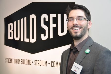 """SFU students walk the """"engaged university"""" talk including Marc Fontaine, general manger of Build SFU and a recent Beedie School alumnus."""
