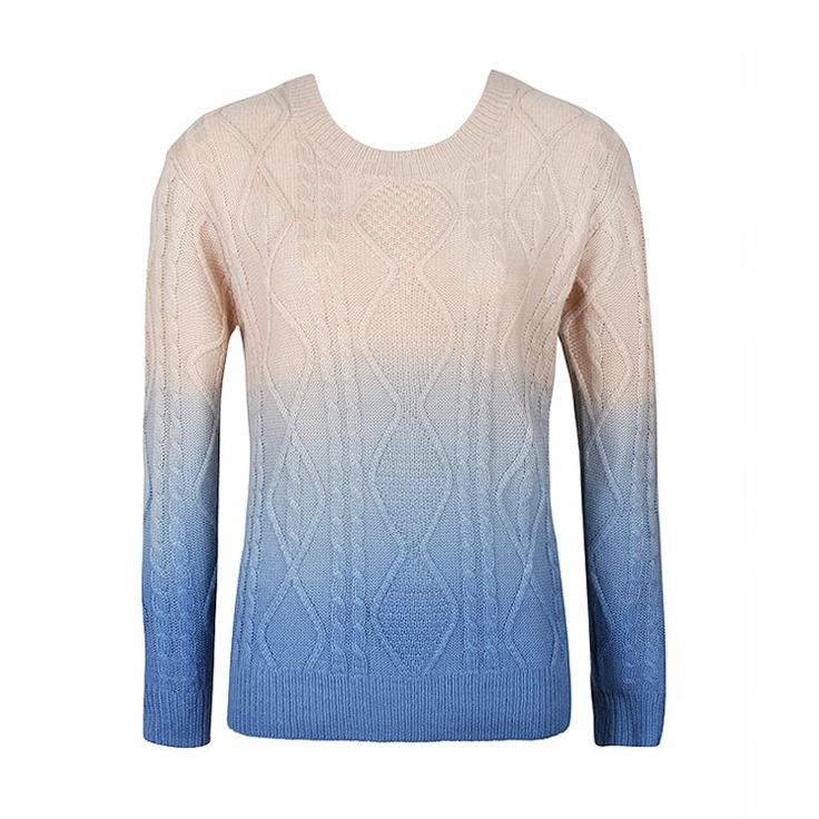 DIP DYE CABLE KNIT JUMPER