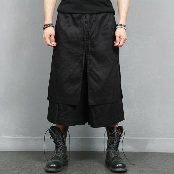 Avant garde Double Layered Wide Skirt Sweatpants