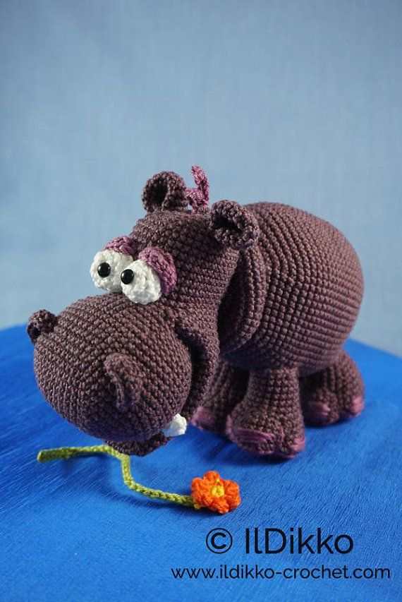 Amigurumi Crochet Pattern Hippolyte the Hippo English #Affiliate