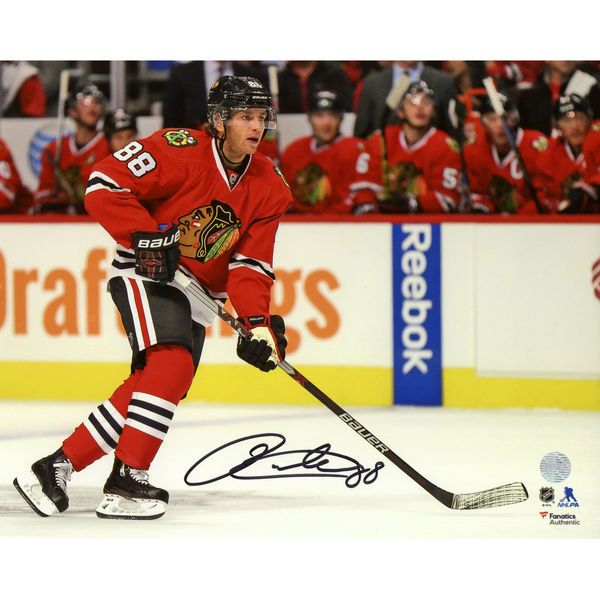 "Patrick Kane Chicago Blackhawks Fanatics Authentic Autographed 8"" x 10"" Red Jersey Skating Photograph - $179.99"
