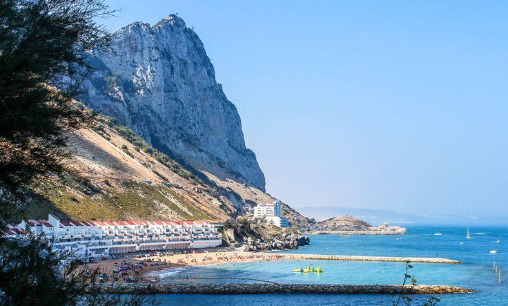 Catalan Bay Rock of Gibraltar,Mediterranean Sea, Gibraltar,British Overseas Territory, Europe | www.DoLessGetMoreDone.com |