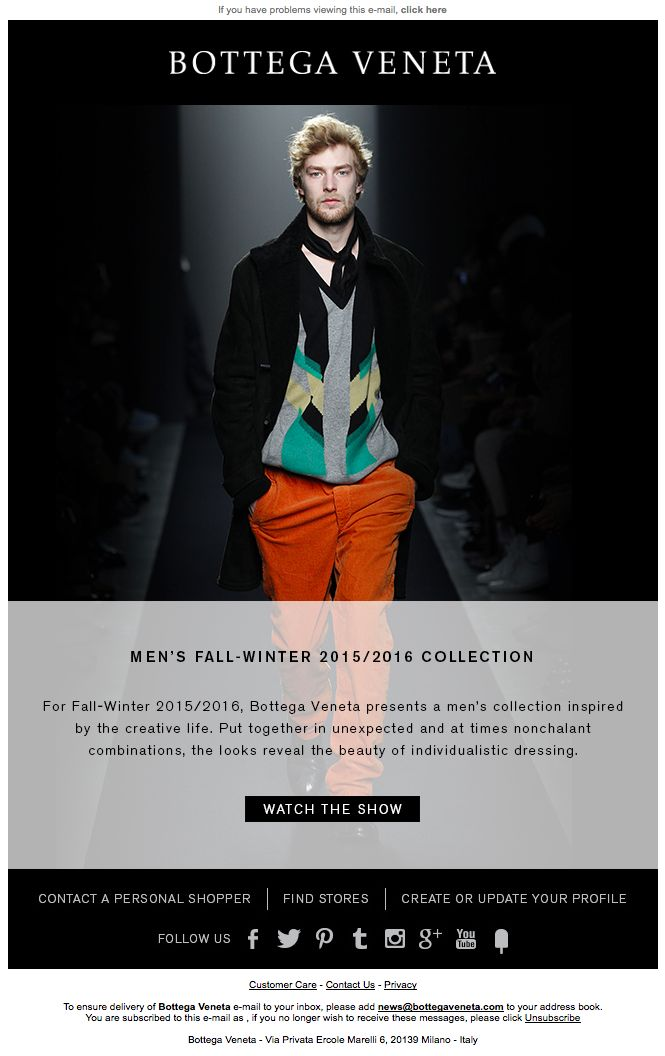 Discover the Men's Fall-Winter 2015/2016 Collection