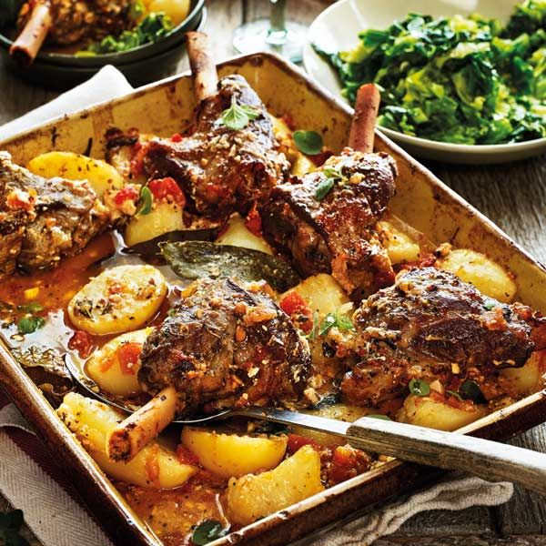 Greek lamb kleftiko with potatoes, oregano and lemon  - Sainsbury's Magazine