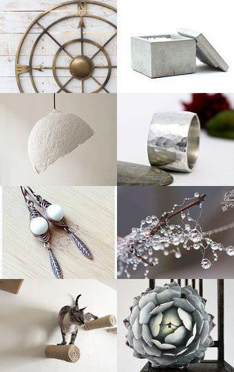 Gray. April gift. by Elena Ustinova on Etsy--Pinned with TreasuryPin.com