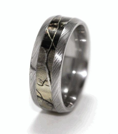 Men's Camo Titanium Ring 2