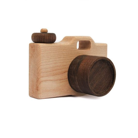 wooden toy camera modern organic imagination by littlesaplingtoys, $35.00