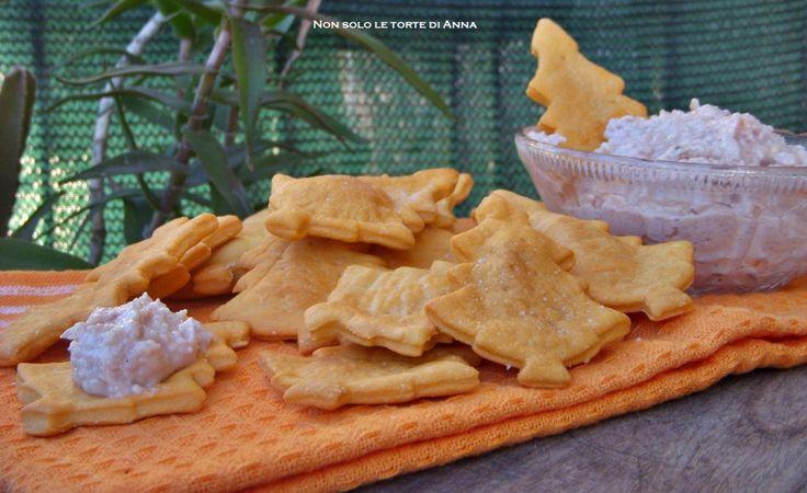 Crackers lievito madre e mousse di prosciutto - Non solo le torte di Anna