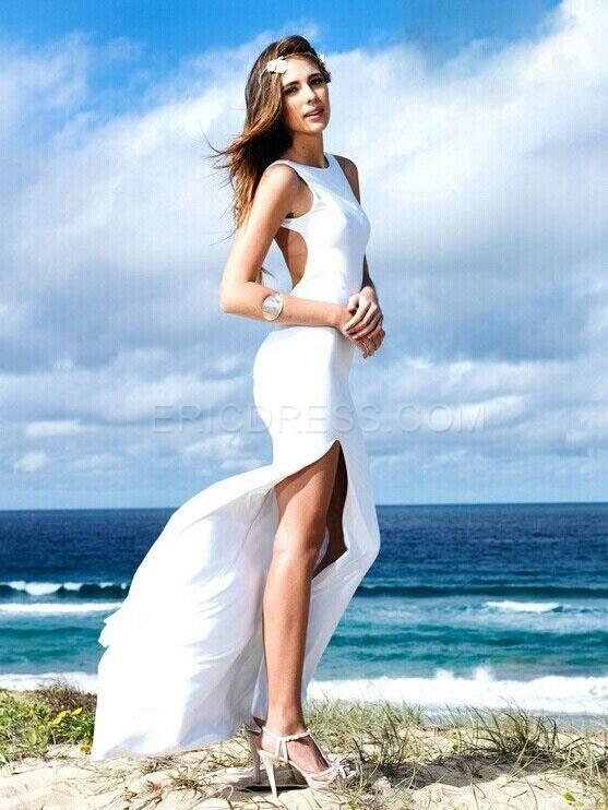 sexy white dress in summer,women's cheap pretty dress online