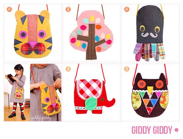 cute pouches by GiddyGiddy