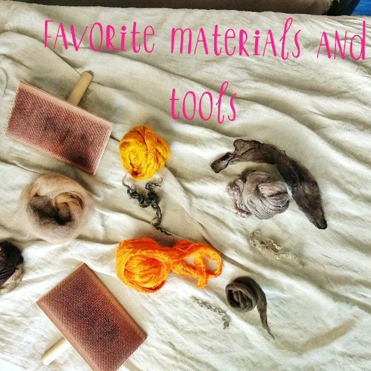 Felting materials and tools
