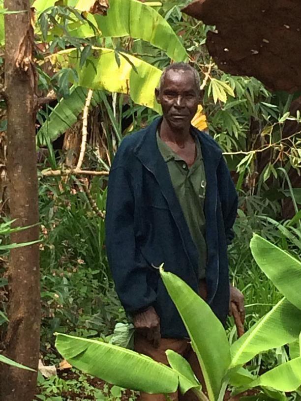Local farmer, Gakindu, Nyeri region, Kenya