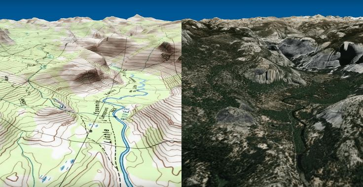 Topographic Aerial Trail Videos Made with Route 3D