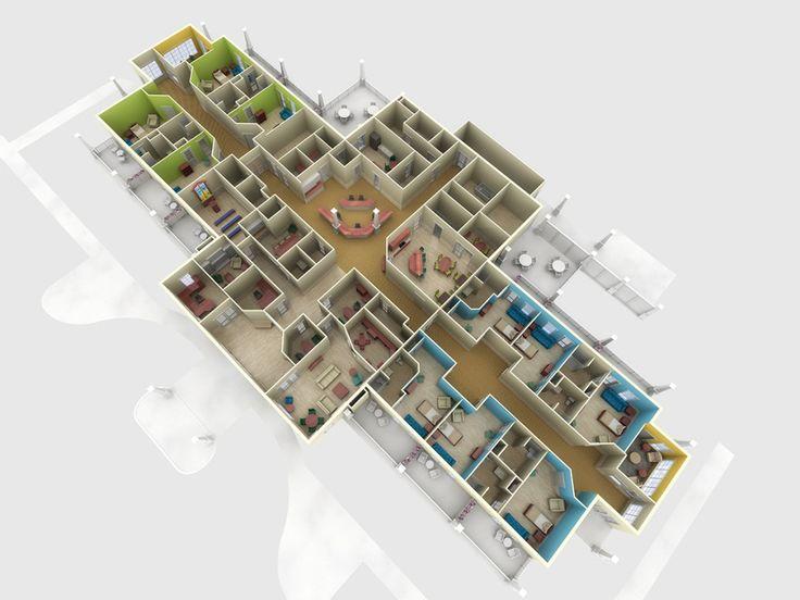25 Best Images About 3d Floor Plan 3d Site Plan