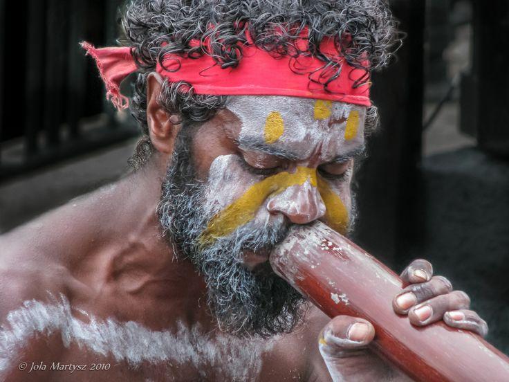 """Aboriginal Playing Didgeridoo"" Captured in Sydney, Australia. Camera Canon PowerShot S5 IS, f/3.5, 1/160 sec, ISO-200."