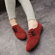 Lotus Jolly Ballet Flats Faux Leather Women Casual Shoes Tie Vintage British Oxford Low Pointed Toe Spring Autumn Zapatos Mujer(China)