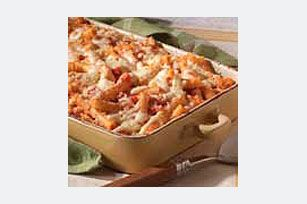 Baked ziti- I used cottage cheese instead of ricotta and will add some spinach too.
