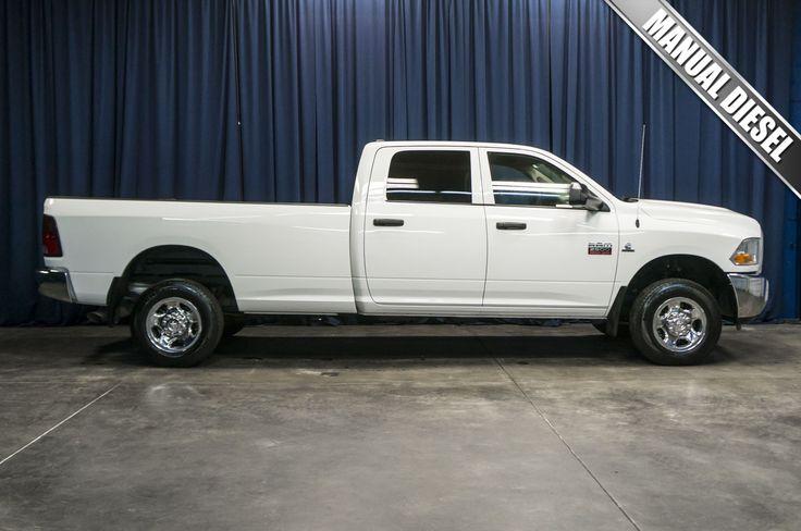 2012 DODGE RAM 2500 4X4 with 6 speed manual transmission for sale at Northwest Motorsport. #DieselTrucks #Cummins #Dodge #Trucks