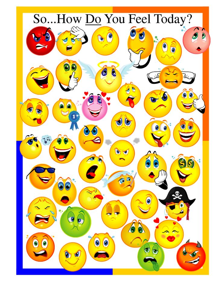 Feeling Chart For Preschoolers  Psychology    Feelings