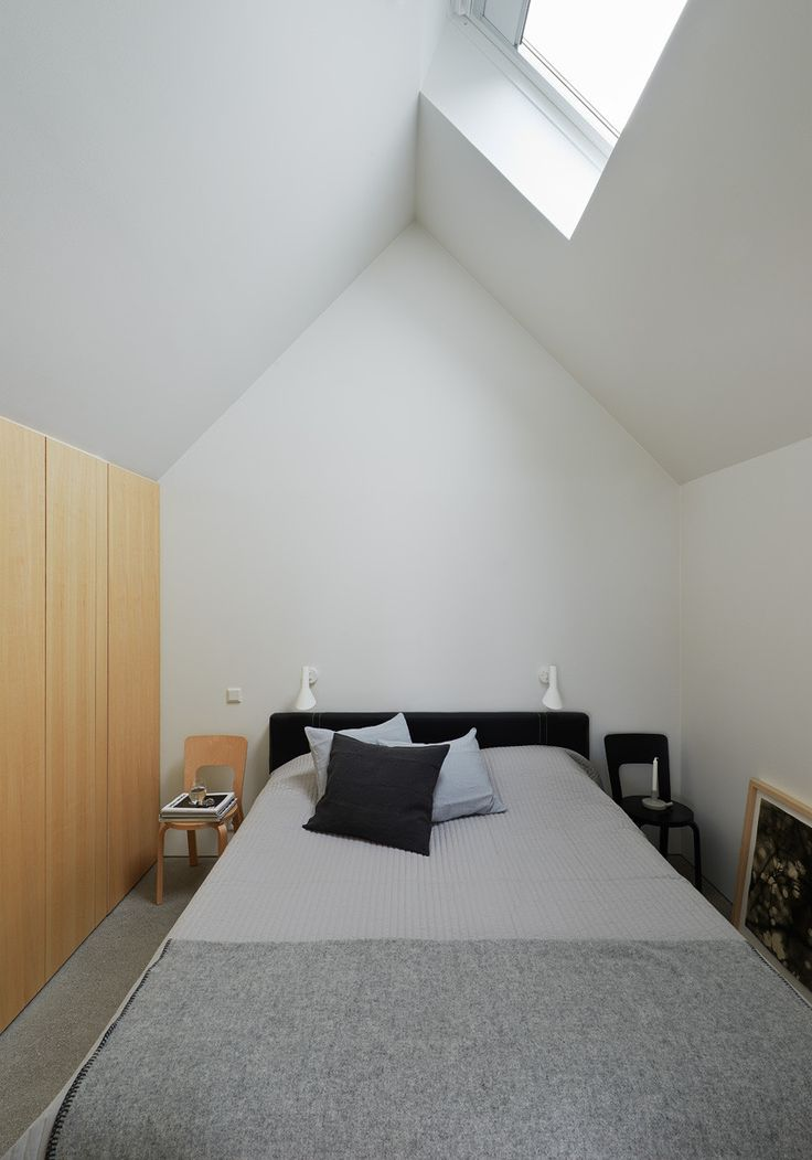 House Design Connected to Natural Landscape: Summerhouse Lagnö : Summerhouse Lagno By Tham & Videgard Arkitekter – Master Bedroom Decoration