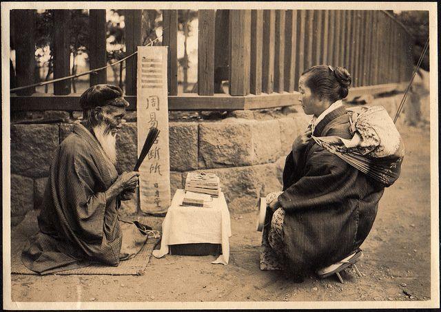 Japanese Fortune Teller  Japan between 1914 and 1918  Photo by Elstner Hilton