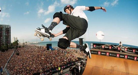 "Click the picture to see the legendary Tony Hawk get nostalgic while talking about the latest installment in his video game series ""Tony Hawks Pro Skater Remake HD."""