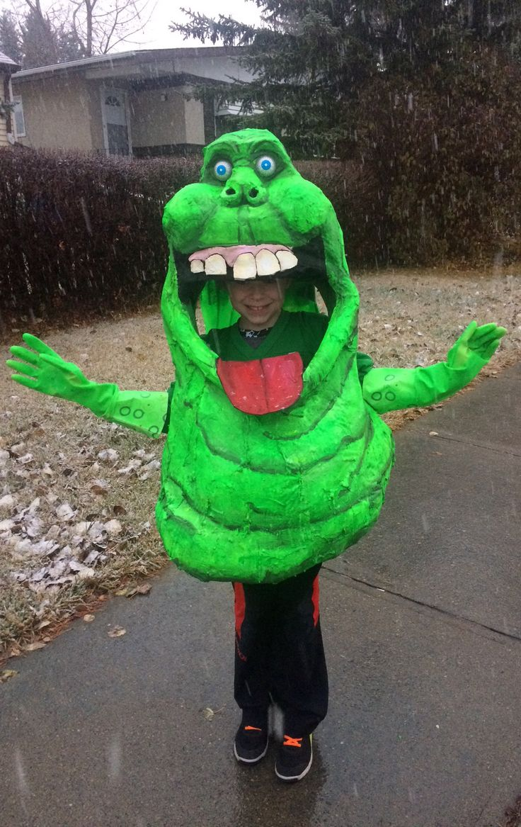 Ghostbusters' Slimer costume!