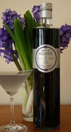 creme de violette. with it you can make purple drinks like the aviation
