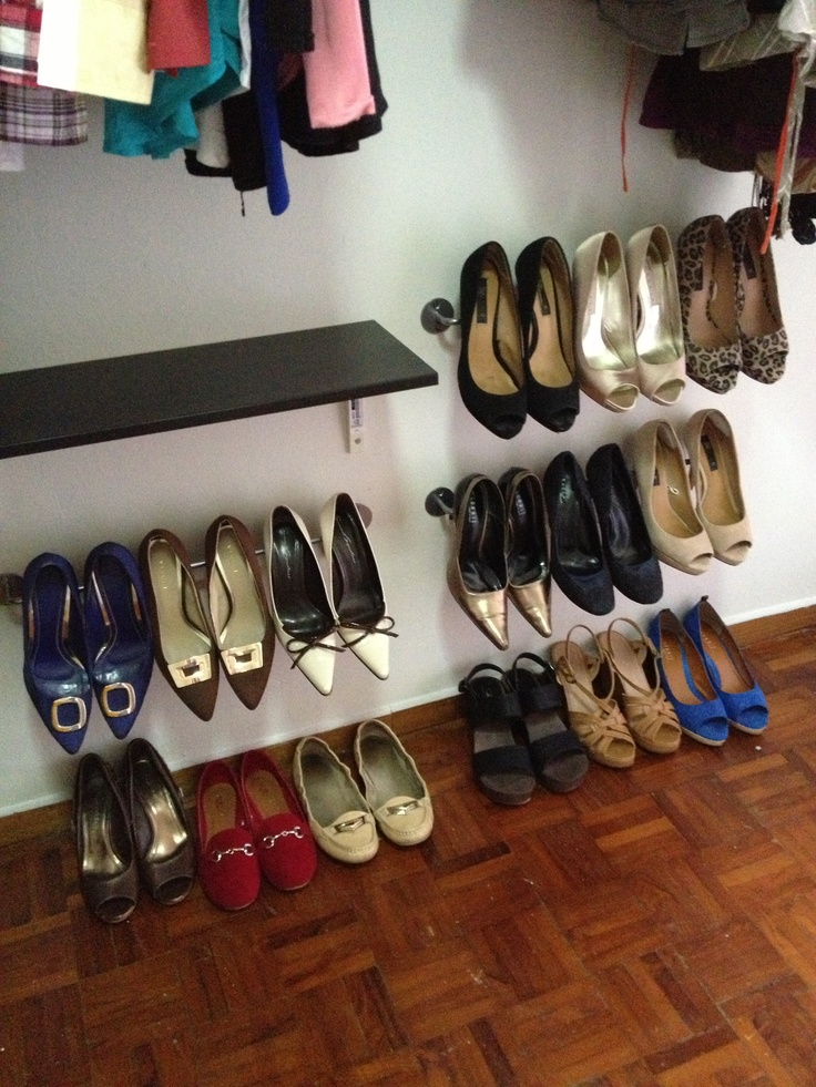 DIY shoe storage for the walk-in closet #everydayshoes