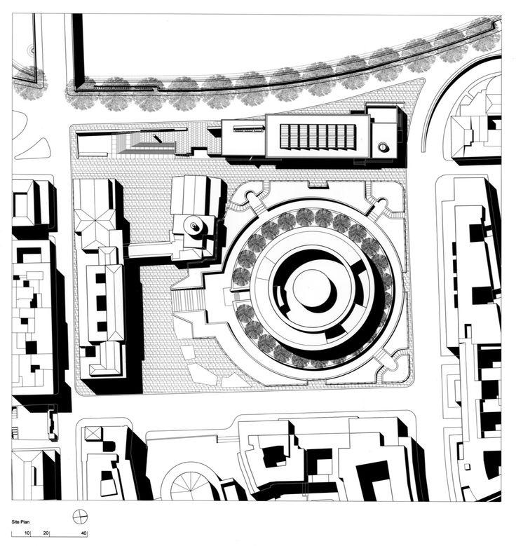 Virginia Duran Blog- The 8 Newest Buildings of Rome- Ara Pacis Museum by Richard Meier (2005) Floor Plan