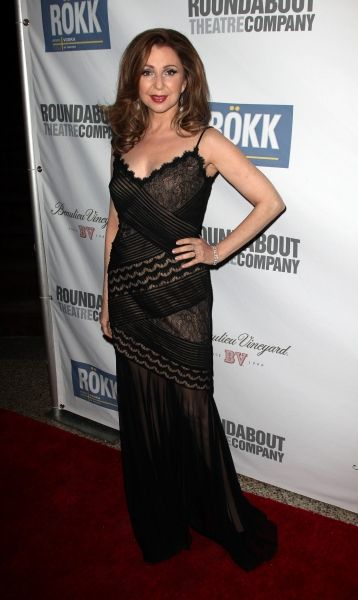 I love Donna Murphy's dress at a Roundabout Theatre Company Gala