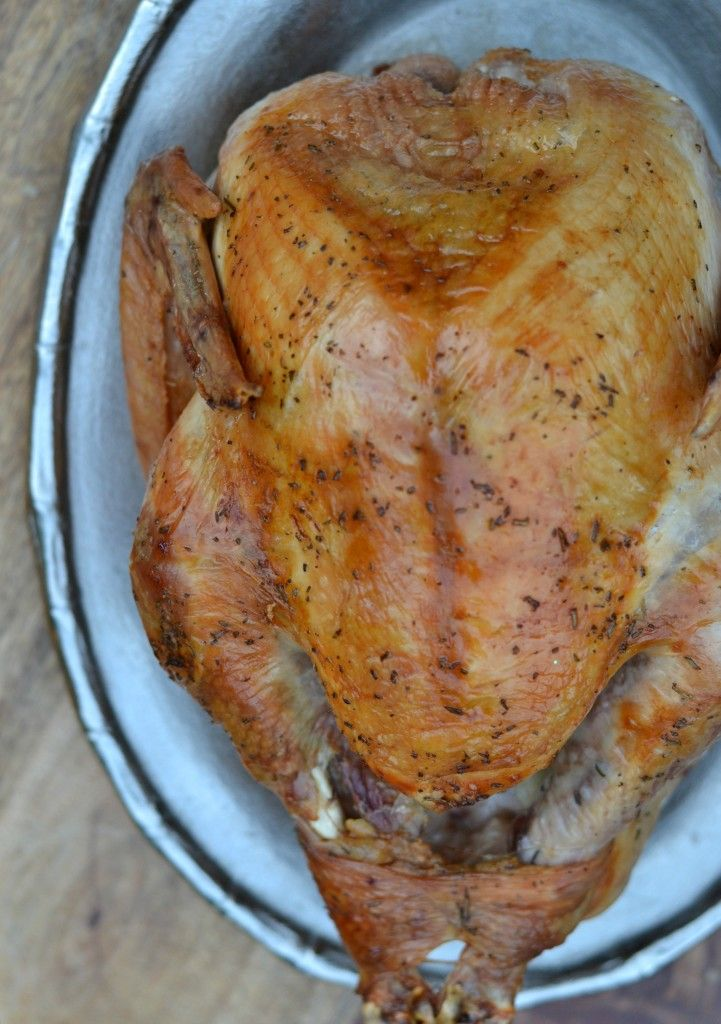 Easy Brined Roasted Turkey With Creamed Gravy Recipe — Dishmaps