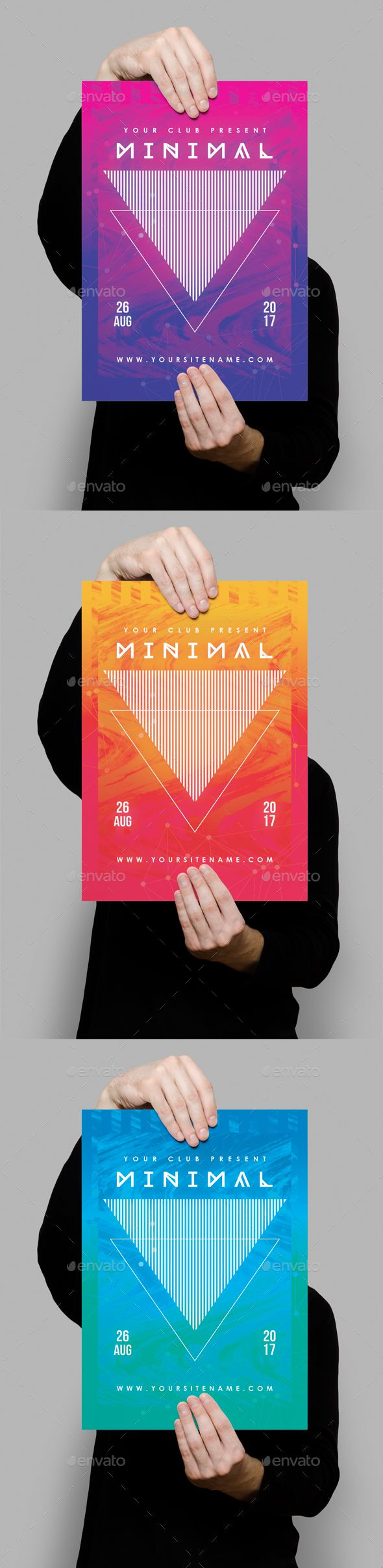 Modern Minimal Club Poster — Photoshop PSD #elegant #dj • Download ➝ https://graphicriver.net/item/modern-minimal-club-poster/19198010?ref=pxcr