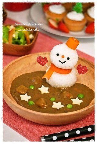 snowman curry rice 雪だるまちゃんカレー