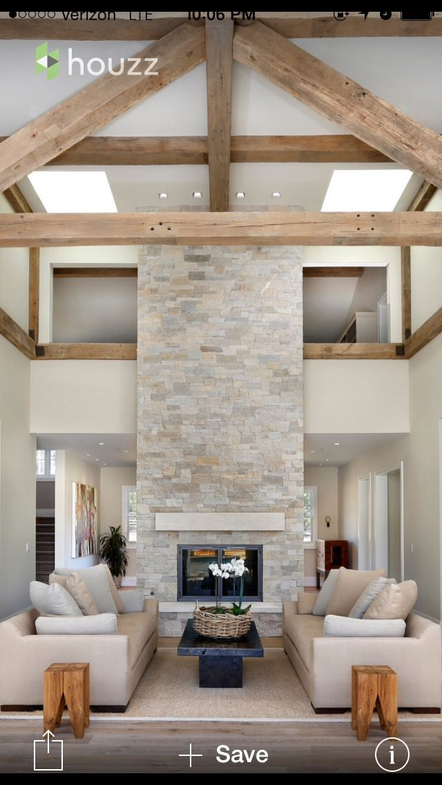 Image result for double volume space fireplace