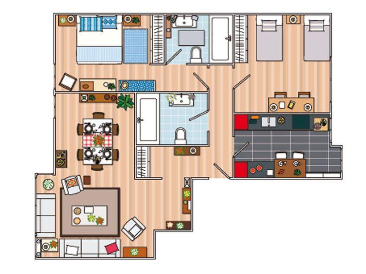 Plano y presupuesto planos planos de casas y casas de - Planos de casas pareadas ...