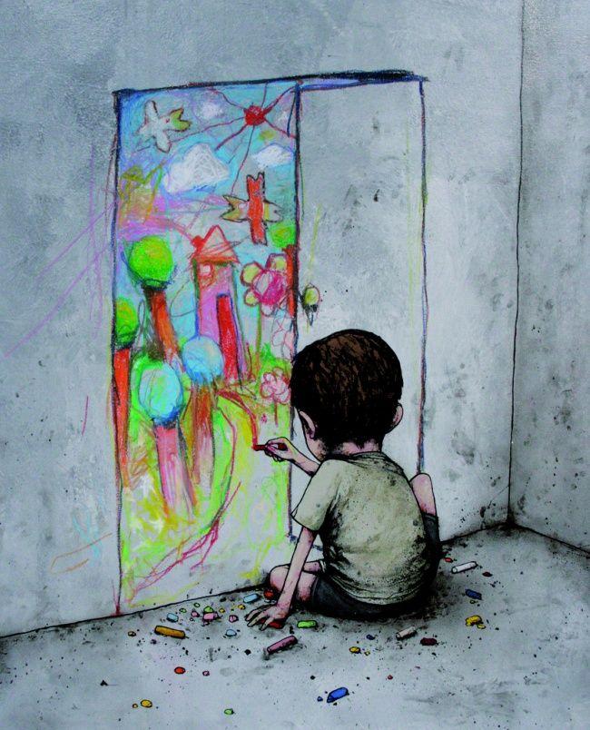 рисунки про одиночество красками кино прославила настоящую
