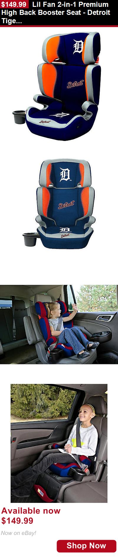 Other Baby Car Safety Seats: Lil Fan 2-In-1 Premium High Back Booster Seat - Detroit Tigers BUY IT NOW ONLY: $149.99