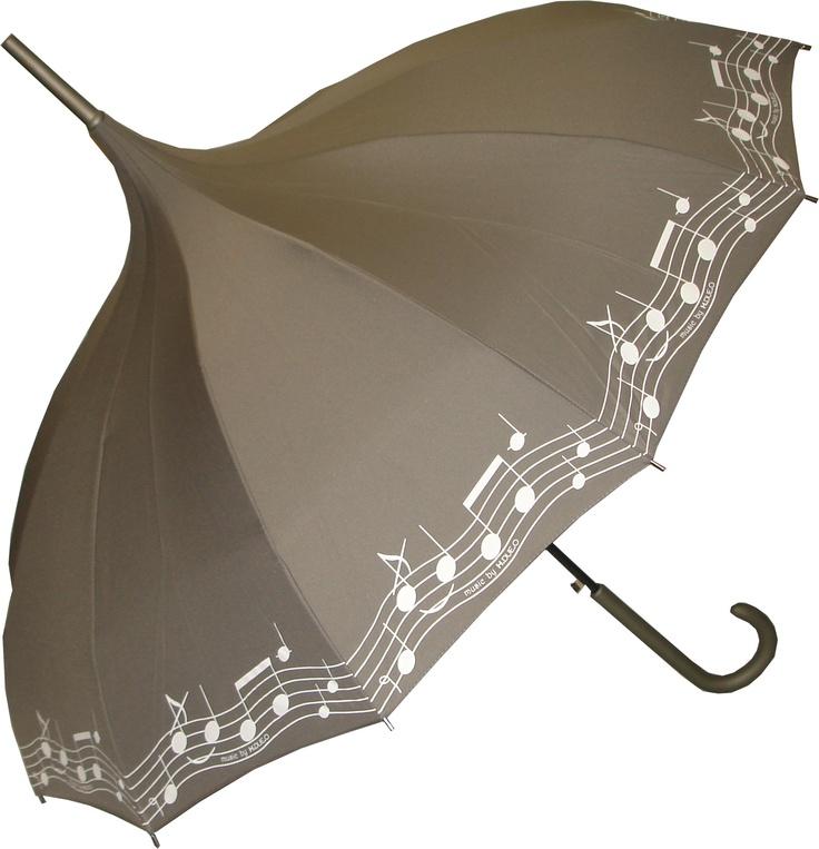 H.DUE.O Pagoda Music Notes Umbrella