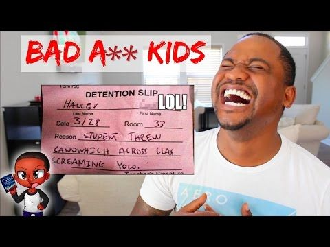 FUNNY DETENTION SLIPS From REAL KIDS | TOP 60 School FAILS - YouTube