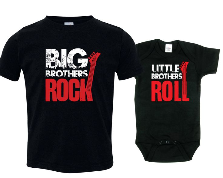 Big brother little brother shirts matching sibling shirts, Big Brothers Rock and Little Brothers Roll RCKSib by SingleAndTwinShirts on Etsy https://www.etsy.com/listing/229997380/big-brother-little-brother-shirts
