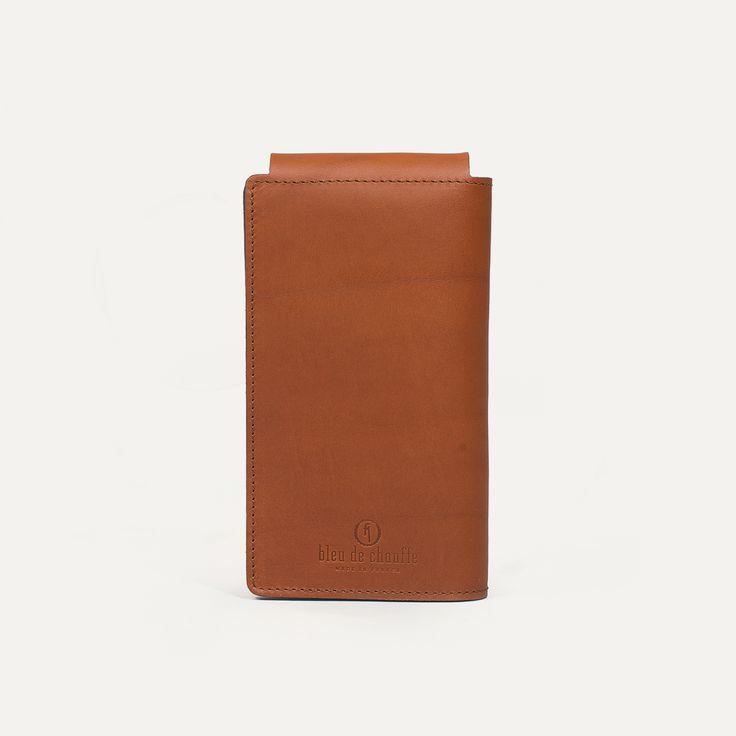 Portefeuille en cuir Homme Corto - Made in France  | Bleu de chauffe