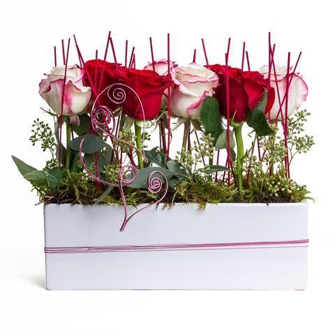 Love Is In The Air unique roses arrangement.