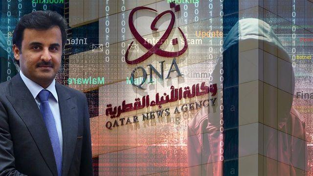 ABD'li istihbarat yetkilileri, Katar'ın resmi haber ajansı QNA'nın internet sitesine siber saldırı yoluyla yanlış bilgiler ekleyerek Katar krizinin ortaya çıkmasına neden olan sürecin arkasında BAE'nin olduğunu savundu. QNA'da Katar Emiri Şeyh Temim Al Sani'ye atfen ABD karşıtı ve İran'ı destekler açıklamalar yayımlanmış ve krize yol açmıştı.