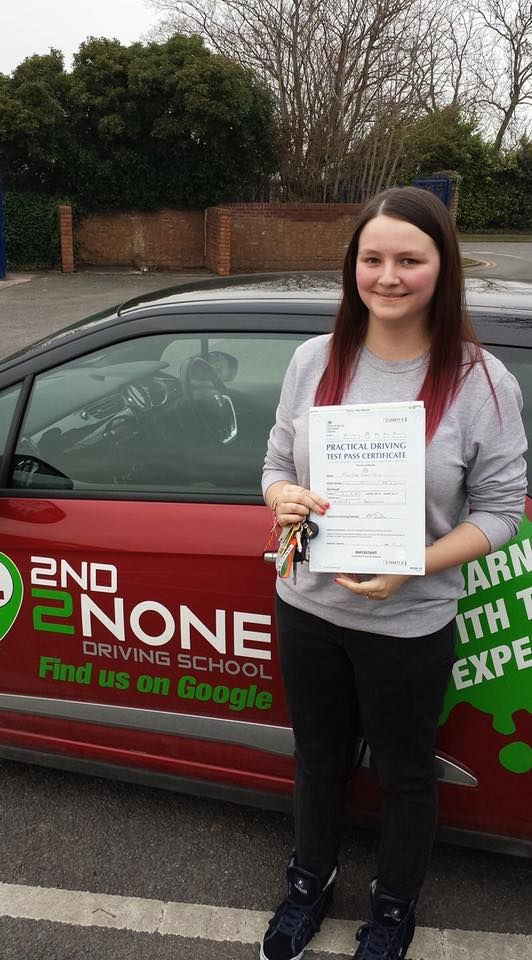 Congratulations to Jade True who passed her driving test this afternoon 10/02/17 in Brislington Bristol first time!  She picked up just 5 minor faults and was asked to do the reverse bay park at the end for her manoeuvre. Well done Jade! :)  All the best from your driving instructor Kevin Allen and the whole team here at 2nd2None Driving School.  https://www.2nd2nonedrivingschool.co.uk/driving-lessons-bristol.html