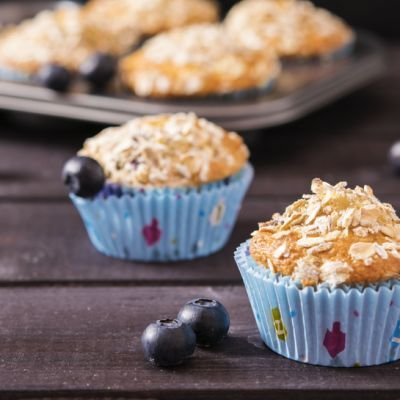 Fruity Blueberry-Oat Muffins